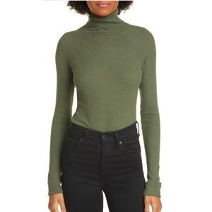 Free People All You Want Bodysuit in Army NWT